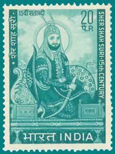 ہندوستان میں شیر شاہ سوری کی خدمات کے اعتراف میں ایسے کئی ٹکٹ وقتاً فوقتاً جاری کئے گئے
