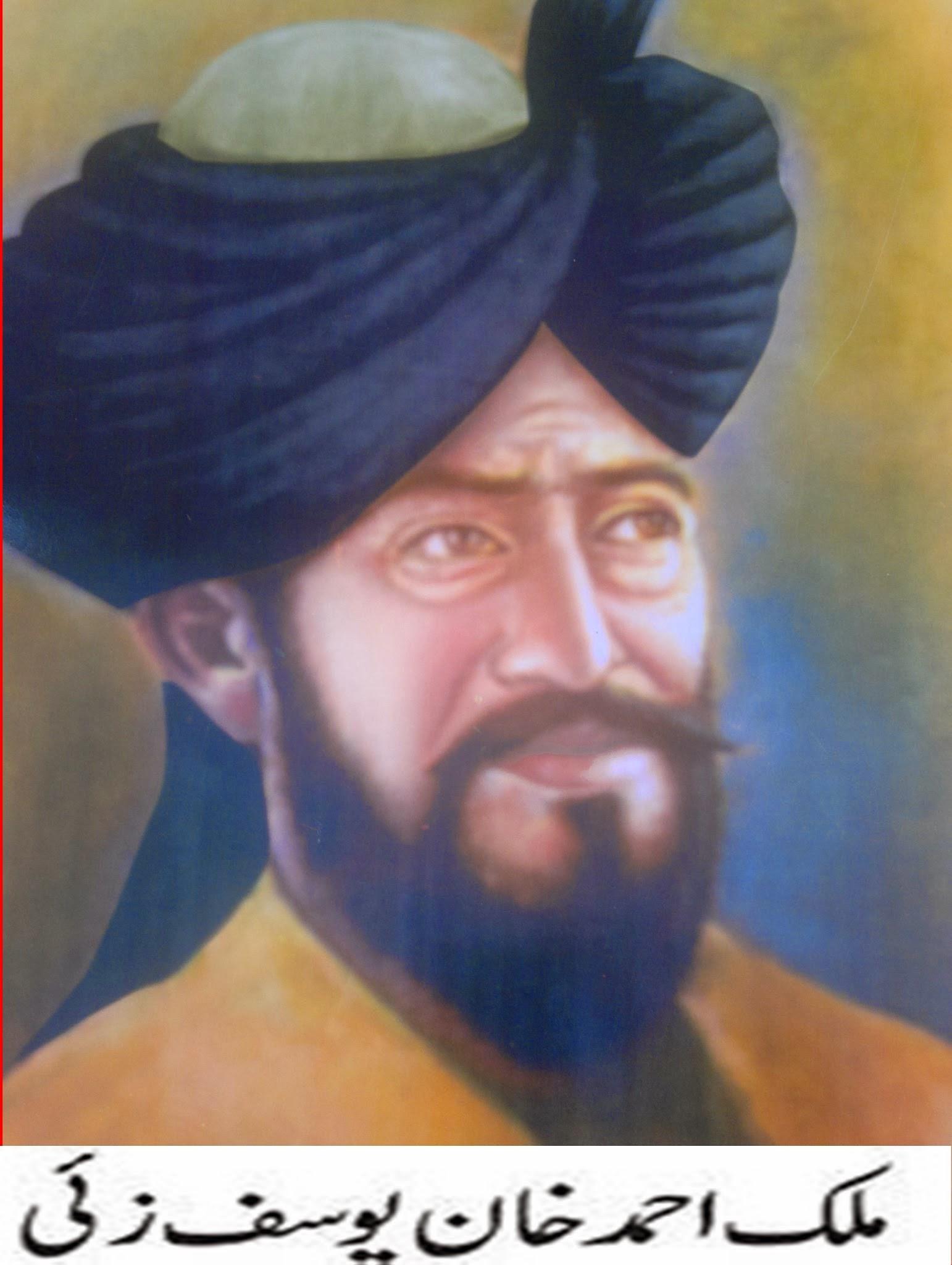 دنیا کے کم عمر قومی سربراہ جرنیل ملک احمد خان، یوسف زیٔ قبیلہ کے سربراہ ملک شیر زمان شاہ کے بھتیجے تھے۔ اللہ بخش یوسفی کہتے ہیں کہ ملک احمد خان 1530ء کے آس پاس وفات پاگئے ہیں، لیکن فہیم سرحدی جنہوں نے بڑی تعداد میں کتابوں کا مطالعہ کیا ہے اور اپنی بصیرت سے بھی کام لیا ہے، اپنے غیر مطبوعہ کتاب ''روسیوں کے سفیر'' میں لکھا ہے کہ ملک احمد خان 1470ء کو پیدا ہوئے تھے اور 1515ء میں ان کی حکمرانی میں یوسف زیٔ قبیلہ سوات میں آباد ہوگیا تھا۔