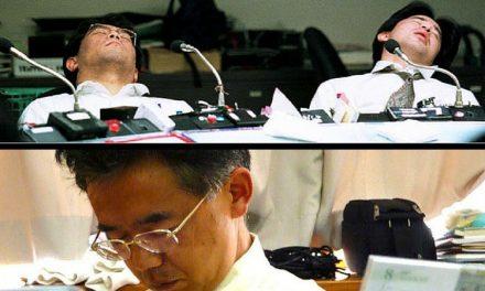 کام کے دوران میں سونے والے محنتی ہوتے ہیں، جاپانی منطق